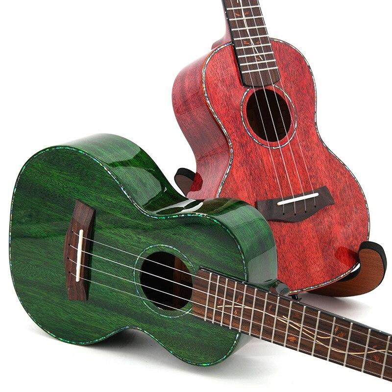 SevenAngel 23 pouces ukulélé de haute qualité seulement Top bois massif acajou Ukelele brillant 2 couleurs Mini guitare en gros