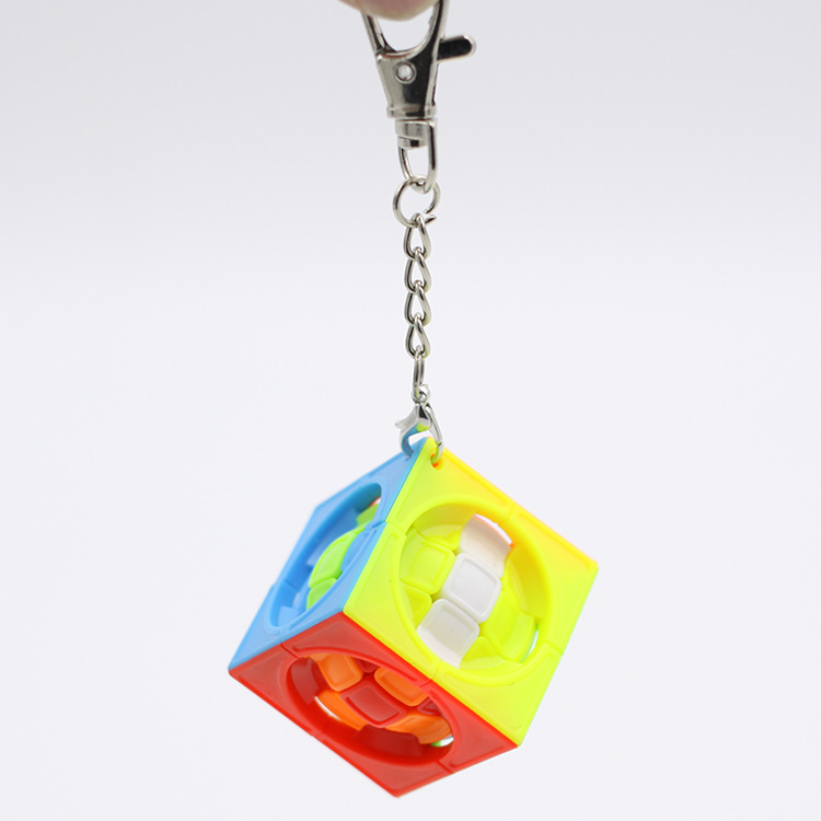 New Magic Cubes Keychain 3.5CM Ball Cube Can Rotated Magic Cubes Pendant Twist Puzzle Toys For Children Gift Magic Cube
