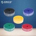 Orico cabo de nylon plástico marca laços coloridos 1 metro azul/amarelo/verde/vermelho/preto