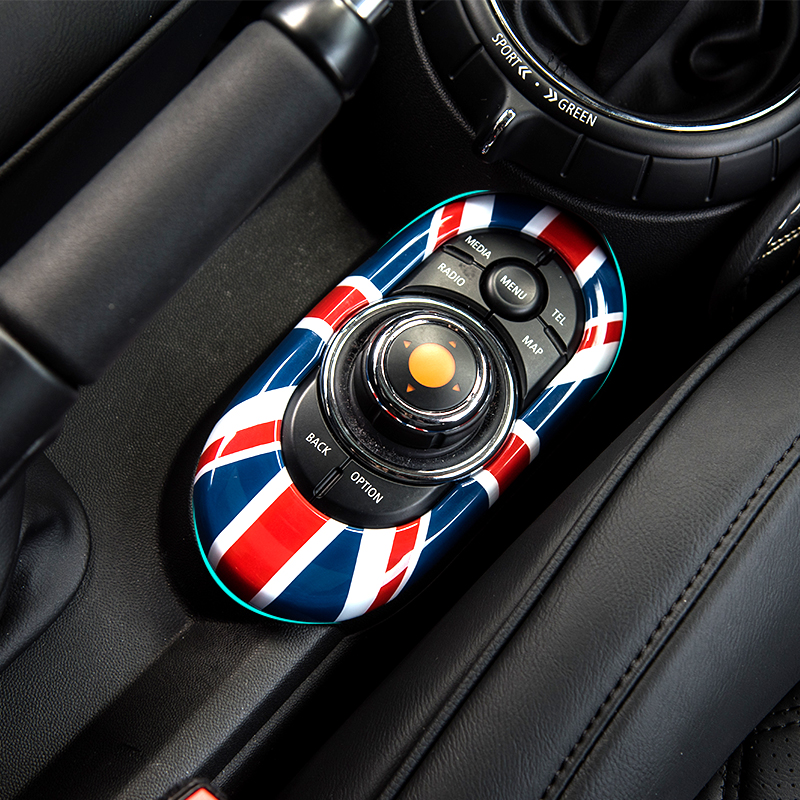 Car Center Console Multimedia Button Gear Panel Housing Cover Sticker For BMW MINI F55 F56 Cooper JCW Modification Accessories