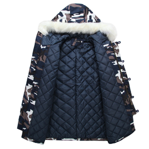 Image 4 - 2020 New Brand Winter Men Thick Camouflage Jacket Mens Parka coat Male Hooded Parkas Jacket Men Military Overcoat