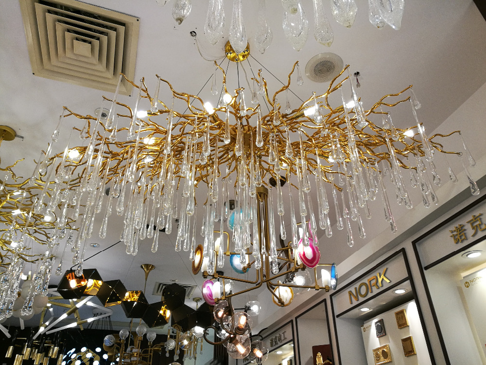 Living room pendant light French crystal led branches bar lamps - Indoor Lighting - Photo 5
