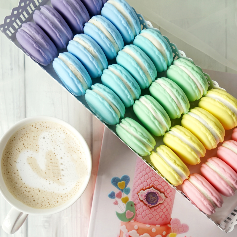 Food Photography Decoration Simulation Fake Macaron Props Food Model Dessert Table Snack Decoration Artificial Cake Home Decor