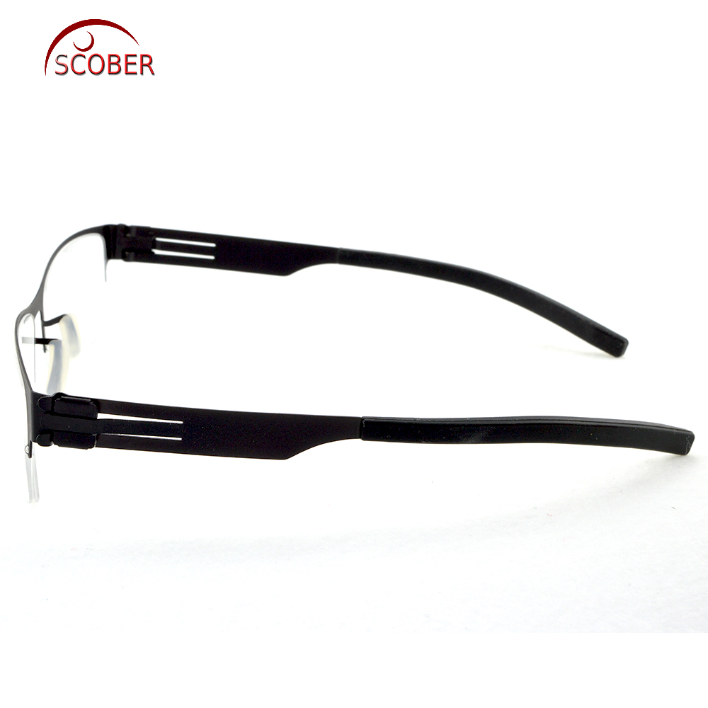 6936c1f51ee   SCOBER   Design No screws welding Half rim Reading Glasses Trigeminal  Legs Anti fatigue Coated Lens +1 +1.5 +2 +2.5 +3 +3.5 +4-in Reading Glasses  from ...