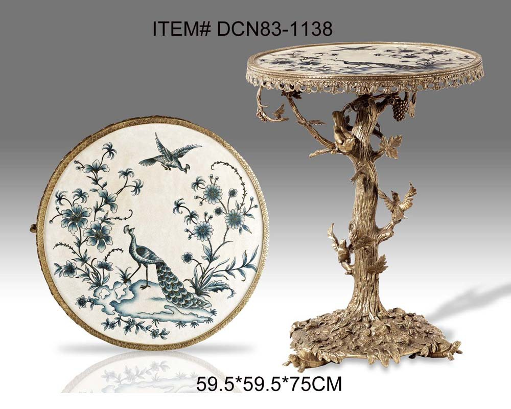 Luxury Round Brass Porcelain Tree Shape End Table Antique Bronze Side Table  Console In Console Tables From Furniture On Aliexpress.com | Alibaba Group
