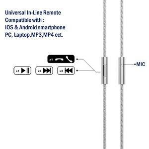 Image 3 - Tennmak שדרוג כסף מצופה MMCX כבל עם מיקרופון ומרחוק עבור Tennmak פרו, טריו, SHURE SE215 SE315 UE900 ברור צבע