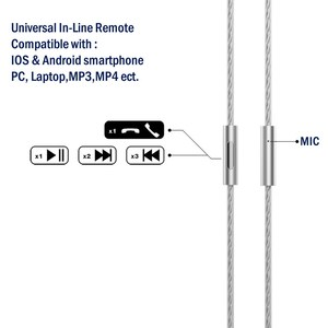 Image 3 - Tennmak Upgrade Silver Plated MMCX Cable with Microphone and Remote for Tennmak PRO,TRIO,SHURE SE215 SE315 UE900  Clear Color