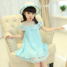 2019 Summer Kids Dresses For Girls Chiffon Quality Lace Princess Dress Children Evening Clothing 4 6 8 10 12 Years Girls Dress princess lace dresses for girls long sleeve ruffles dresses infant vestidos children clothes 4 6 8 10 12 years kids formal dress
