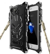 I7 I7 плюс Чехол для iPhone 5 5S 6 6S 7 плюс 7, Броня Heavy пыли металла алюминиевая Ironman защиты Скелет головной телефон Чехол