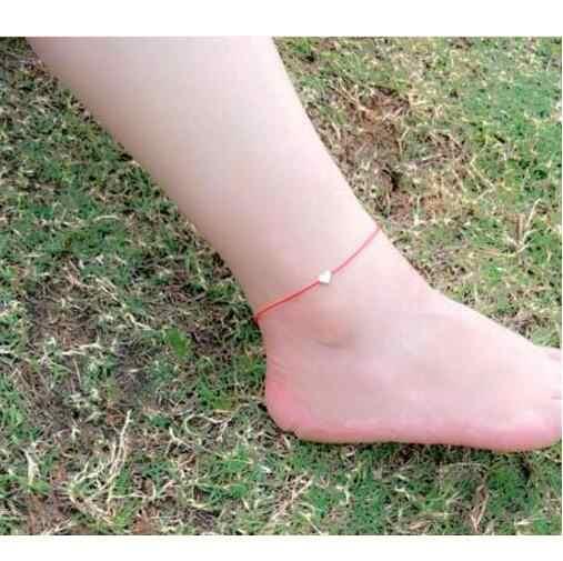 Sl446 nueva moda tobillera en forma de corazón de señora con gancho sandalias descalzas pies nueva cadena tobillo mujer más hermosa regalo