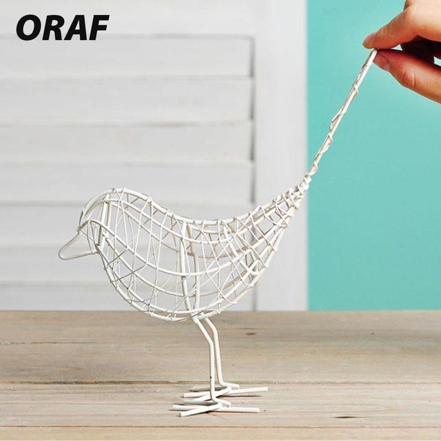 Metal Iron Wire Bird Hollow Model Artificial Craft Fashionable Home Furnishing Table Desk Ornaments Decoration Gift Drop Shiping 3