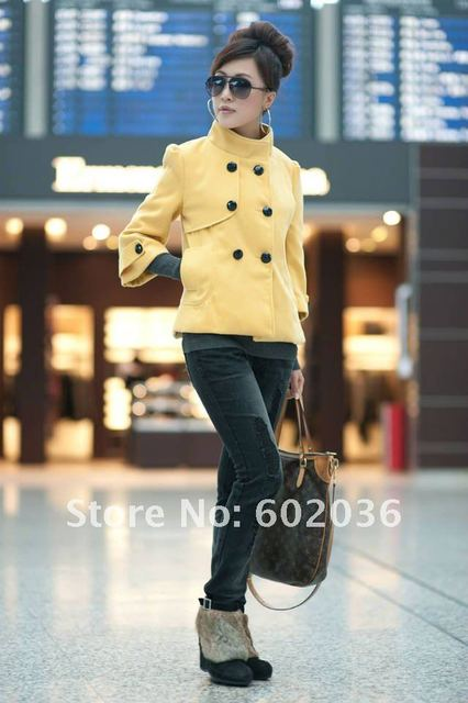 Free Shipping wholesale Women's fashion coat ,ladies' overcoat/ fall and winter woollen short  jacket 2033