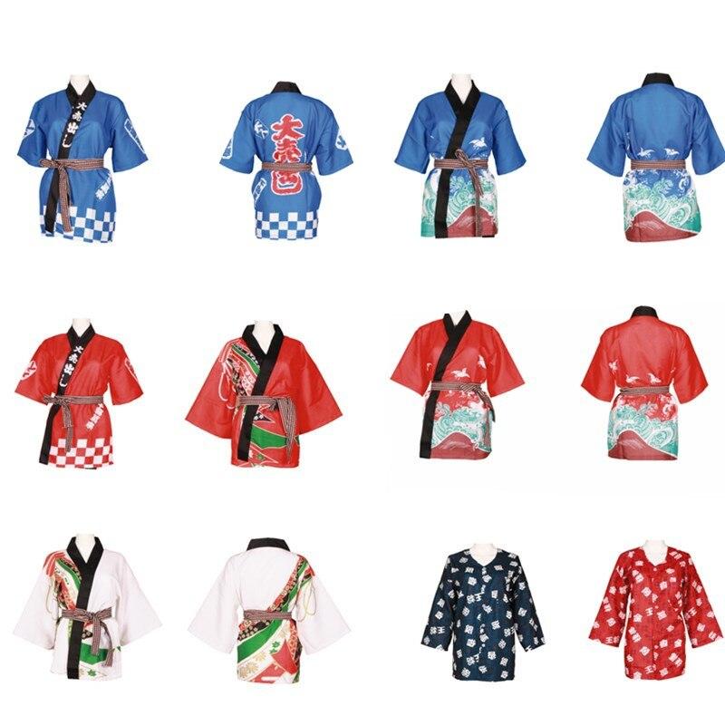Japanese Sushi Kimono 2018 New Arrival Unisex Chef Uniform Jacket Japanese Restaurant Designed Uniform Work Clothes MK1212(China)