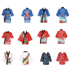 Японское кимоно для суши, Новое поступление, унисекс, униформа шеф-повара, куртка, японский ресторанный дизайн, Униформа, рабочая одежда MK1212