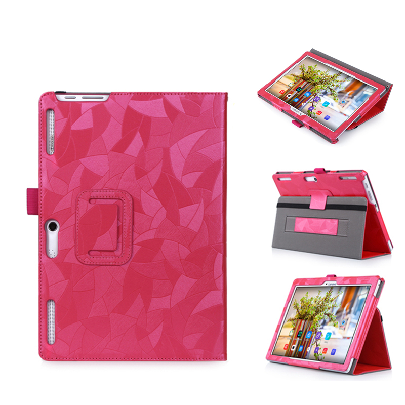 PU Leather Cover Case For Lenovo Tab2 A10 70 Tablet for Tab 2 A10-70 A10-70F A10-70L 10.1 Shell+Film+Stylus Pen