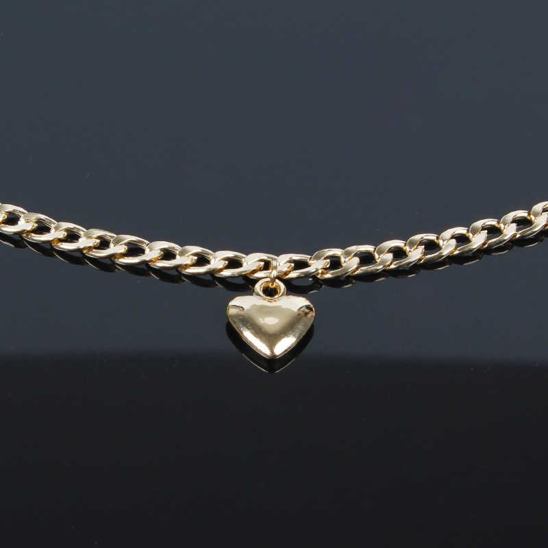 Модный женский ювелирный милый сердечный замок ожерелье Золотое серебряное ожерелье-чокер ожерелье кулон на аксессуар для шеи XL767