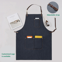 Kitchen Blue Denim BBQ Cleaning Apron Cooking Apron Florist Bartender Man Cowboy Antifouling Chef Pinafore Delantal Tablier