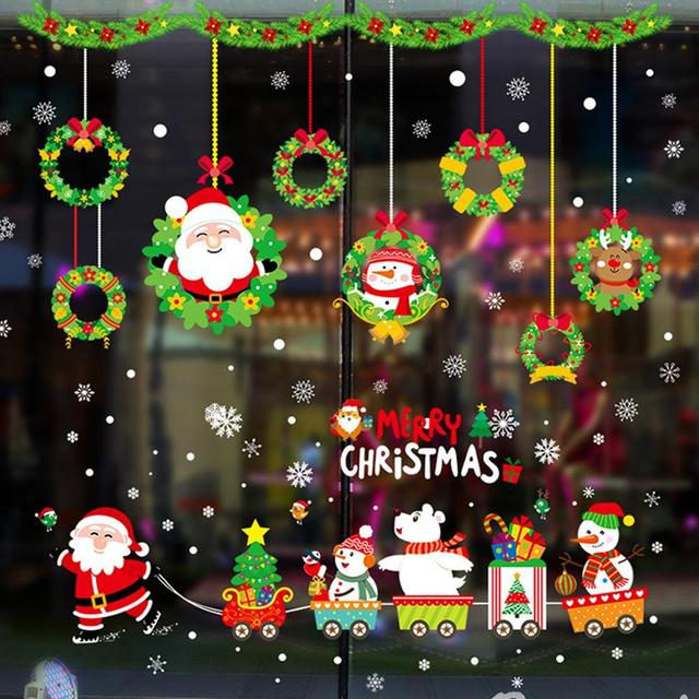 Wall and Window Christmas Decoration Stickers