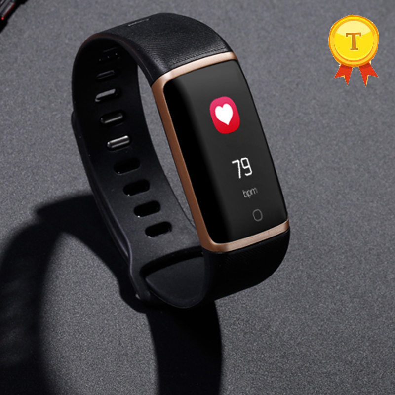 US $46 68  2018 newest respiratory rate monitor Sports Fitness usb charge  design Bracelet smart band Heart Rate Wrist band pk mi band 2 3-in Smart