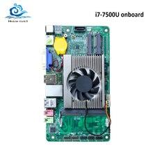 HLY абсолютно новая материнская плата Mini All-in-one i7 7500U Встроенная DDR3 HDMI VGA USB Mini ITX mSATA SATA Mini PCI-E материнская плата