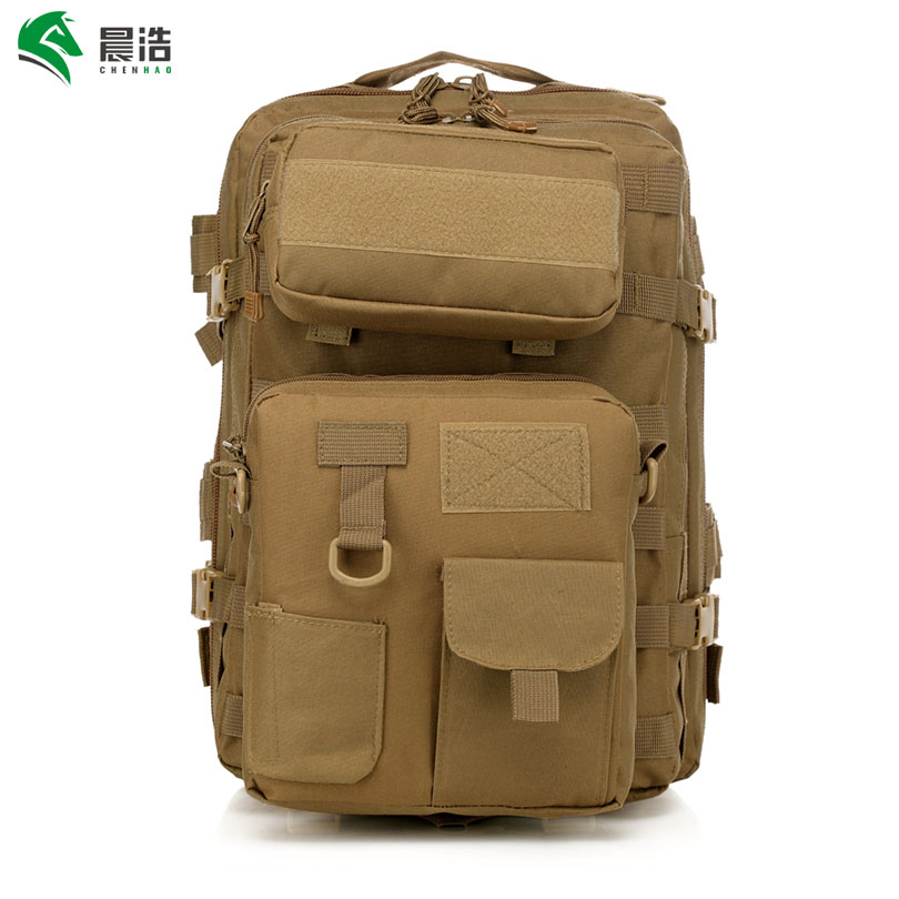 CHENHAO Waterproof Military Backpack 600D Nylon Camping Climbing Bag Outdoor Tactical Shoulders Bag tactical connection backpack military tactical shoulder bag for men waterproof shoulders charge package tactical outdoor backpack