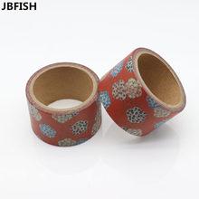 JBFISH Beautiful flower washi tape DIY decorative scrapbook planner masking tape adhesive tape stationery 9012