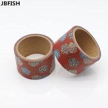 Получить скидку Jbfish красивый цветок васи лента DIY декоративные записки планировщик изоляционная лента клейкая лента канцелярские 9012