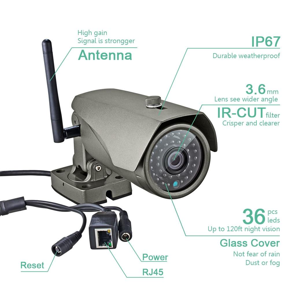 KERUI Full HD 1080P WIFI Wodoodporna kamera IP pociskowa P2P Wizja w - Bezpieczeństwo i ochrona - Zdjęcie 3