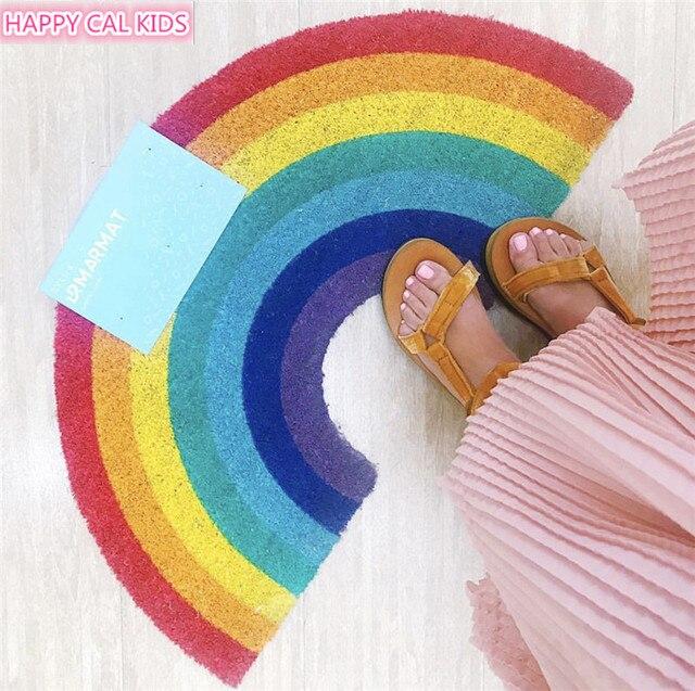 41x75 cm Rainbow Limão Padrão Tapete Tapete Absorvente Porta Tapete Tapetes E Carpetes Para Casa Sala de estar