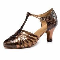 Genuine Leather Blue Women Sexy Latin Dance Shoes Zapatos De Baile Mujer Women Ballroom Salsa Jazz