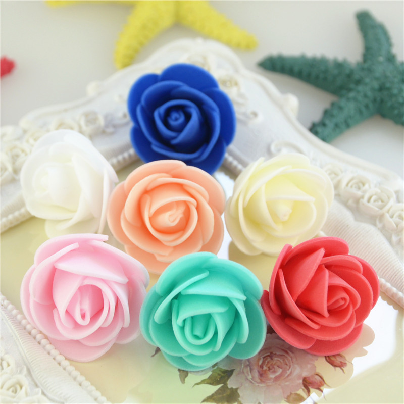 50pcs/Bag Multicolor Mini Rose Head Artificial Flowers For Wedding And Festival Party 8