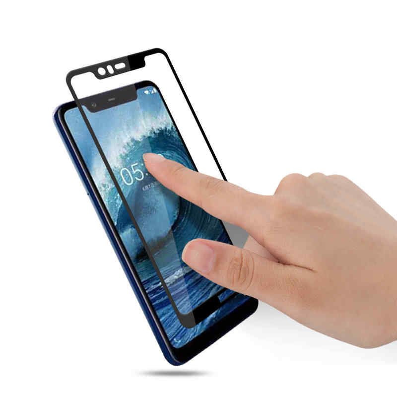 Protectores de pantalla de cobertura completa para Nokia X5 película protectora a prueba de arañazos vidrio templado para Nokia 5,1 Plus