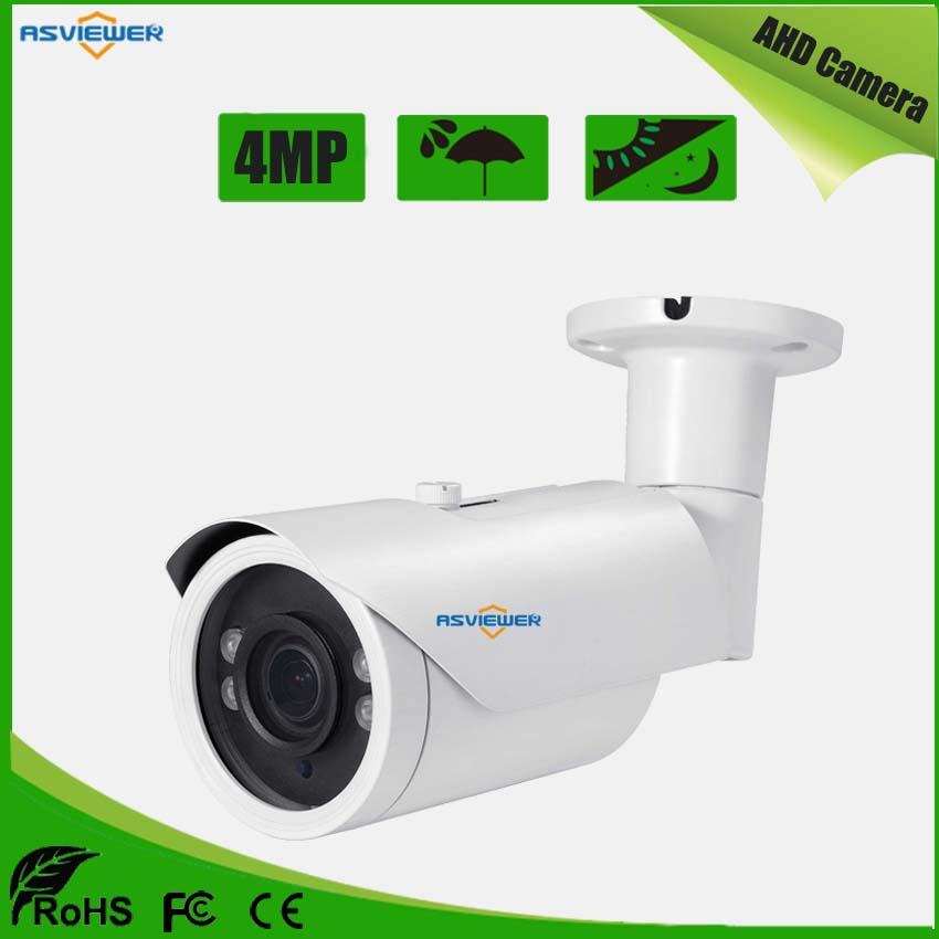 Full HD 4MP AHD Lente Varifocale 2.8-12mm Metallo Pallottola Telecamera Esterna Impermeabile Con 4 pz LED Array con IR-CUT AS-AHD8412H4Full HD 4MP AHD Lente Varifocale 2.8-12mm Metallo Pallottola Telecamera Esterna Impermeabile Con 4 pz LED Array con IR-CUT AS-AHD8412H4