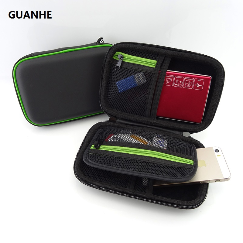 GUANHE Storage hard drive Pouch Bag Case for Accessory Mouse, Cellphone, Cables, SSD, HDD Enclosure, Power Bank and PSP