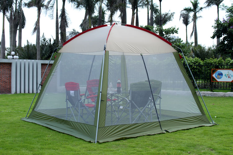 High quality single layer ultralarge 4-8person family party gardon beach camping tent gazebo sun shelter mesh mosquito tent alltel high quality double layer ultralarge 4 8person family party gardon beach camping tent gazebo sun shelter