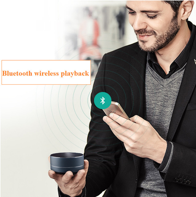 Car Electronic Wireless Bluetooth Mini Speakers FM Radio Bluetooth Hands-free Call TF Card Play LED Lights Subwoofer Car-styling