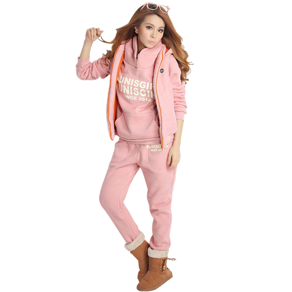 DATE Automne Hiver WomenSuits 3 pièce Chaud Sporting Porter Set Sportswear Survêtements  Jogging Fitness Workout Ensemble 8cf3003dd1b
