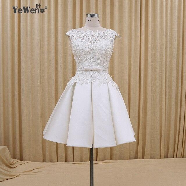 vestidos de boda blanco rojo de encaje playa corto vestido de novia