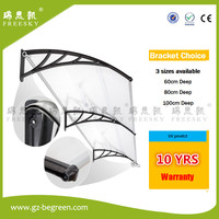 YP80120 80x120cm 80x240cm 80x360cm Polycarbonate Awnings Door Canopy Simple Style Plastic Frame Polycarbonate Awning
