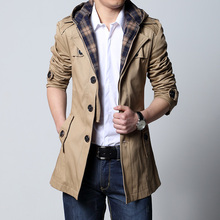 2019 Fashion outwear long coat men trench puls size 5XL male