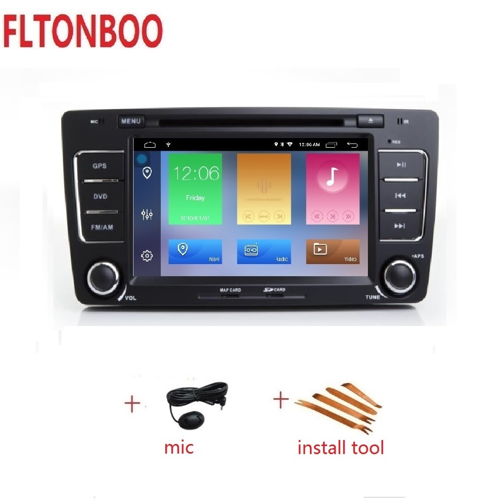 7 inch Android 9 FOR Skoda Octavia gps navigation wifi radio bluetooth Steering wheel Canbus free