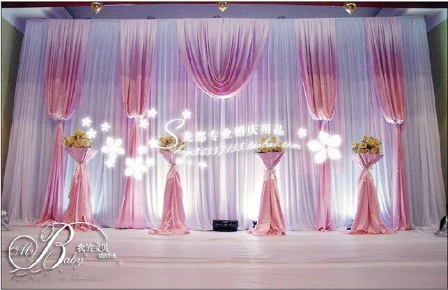 Ice Silk Elegant baby pink font b Wedding b font font b Backdrop b font 3m
