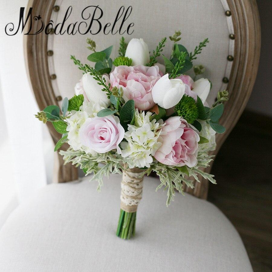 Pink Flower Wedding Bouquet: Modabelle Artifical Wedding Bouquet Pink White Rose Peony