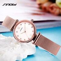SINOBI Women Watches Brand Luxury Diamond Gold Watch Ladies Quartz Wristwatch Women Clock Relogio Feminino
