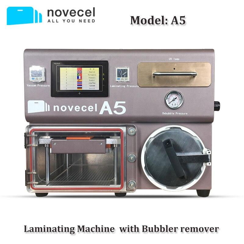 Novecel A5 Lminating машины только пузырь для удаления все в одном вакуумный ламинатор ЖК дисплей ремонт машины с УФ лампы