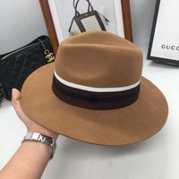 the new wool Sir Hat fashion M standard hat England wind restoring ancient ways is prevented bask Fedoras for men and women
