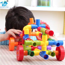 2019 Hot Color Water Pipe Building Blocks For Children DIY Assembling Pipeline Tunnel Model Toy Compatible With legoerg Duploded