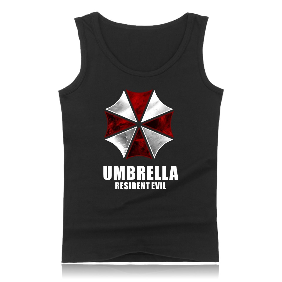 Resident Evil Sleeveless Summer Mens Bodybuilding Tank Tops Classic Horror Movies Tank Top Men Game Of Terror Funny Fashion Vest