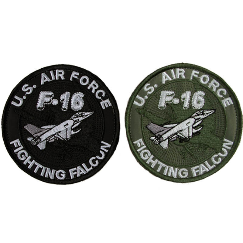 Безплатна доставка САЩ AIR Force F-16 Fatching Falcun Patch от Seibertron Cercle Shape Simple Kuok & Loop за облекло и раница
