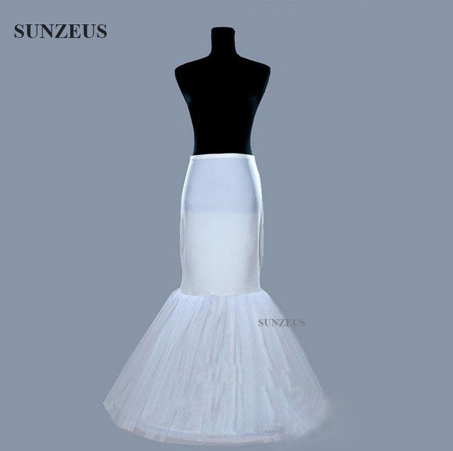 Mermaid Petticoat Wedding Dress Underskirt Birdal Enaguas Long Ivory Jupon Stock